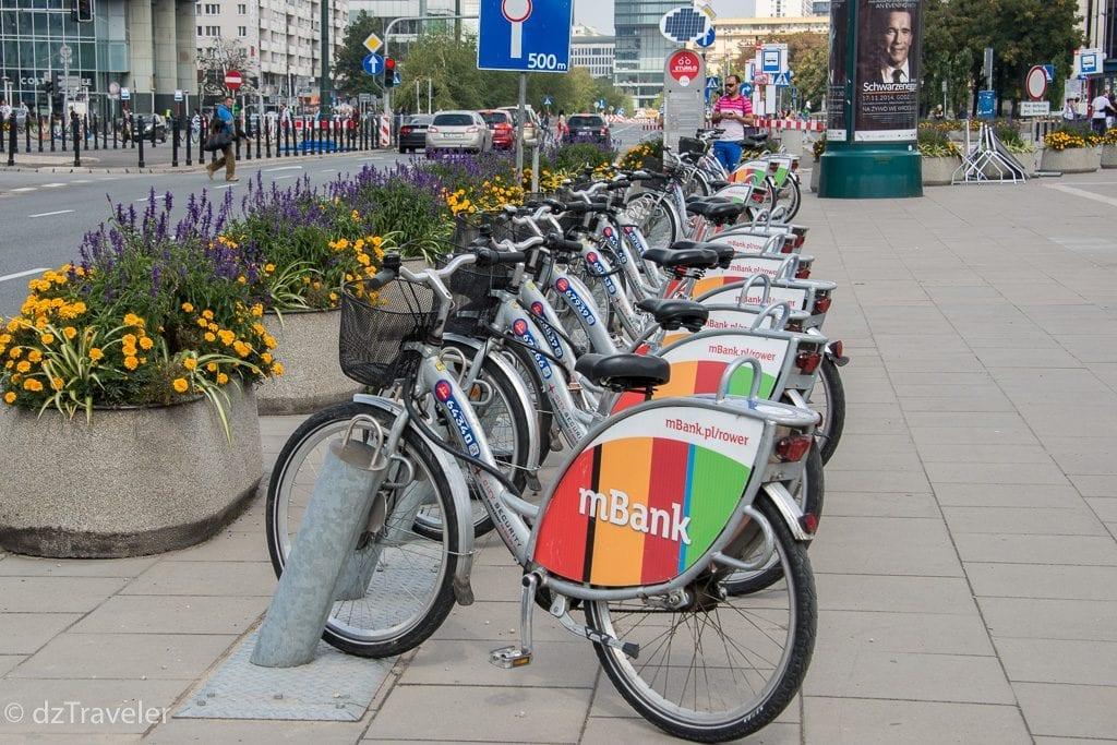 Bicycle Rental in Warsaw, Poland