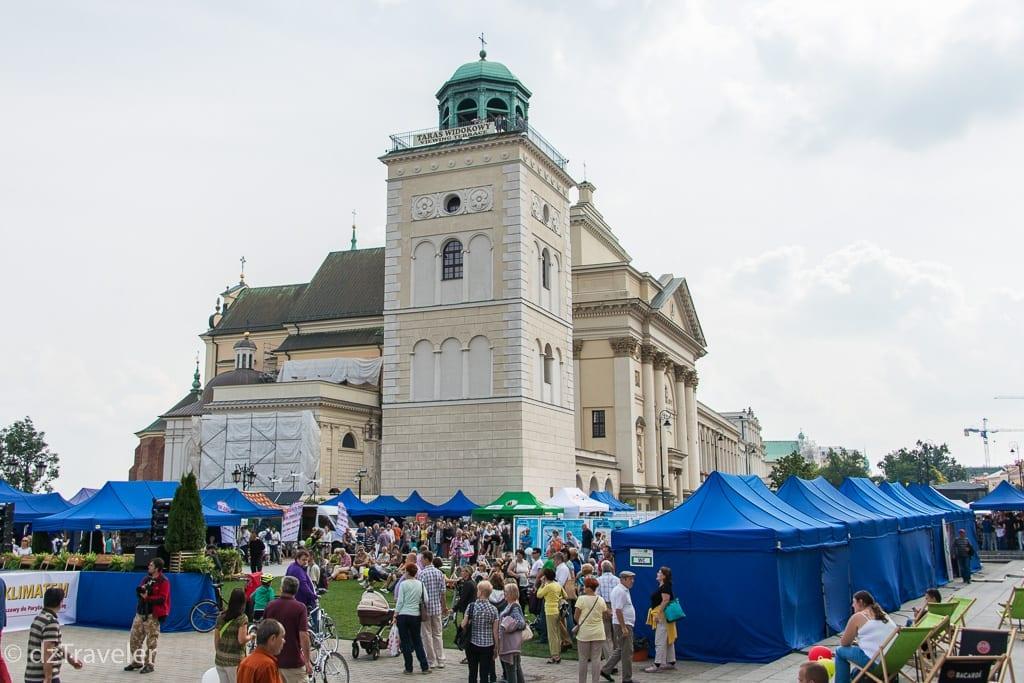 A festival in Castle square, Warsaw
