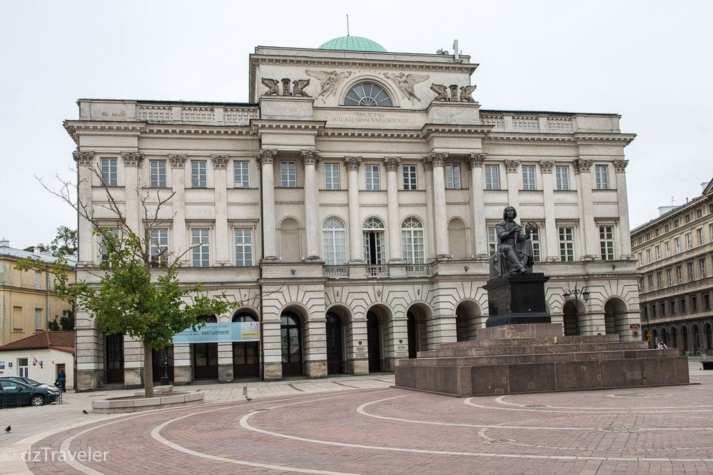 Nicolaus Copernicus Monument in Warsaw