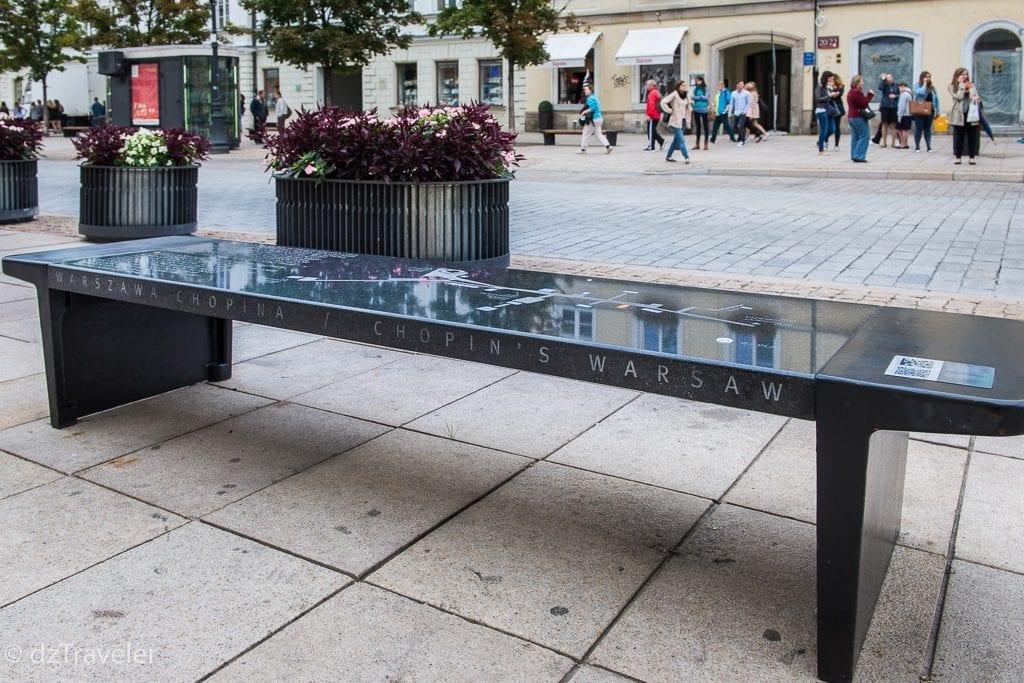 Chopin Benches, Warsaw