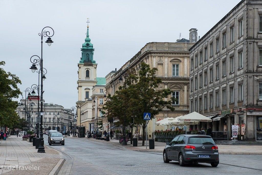 Famous Street in Warsaw - Krakowskie Prazedmiescie
