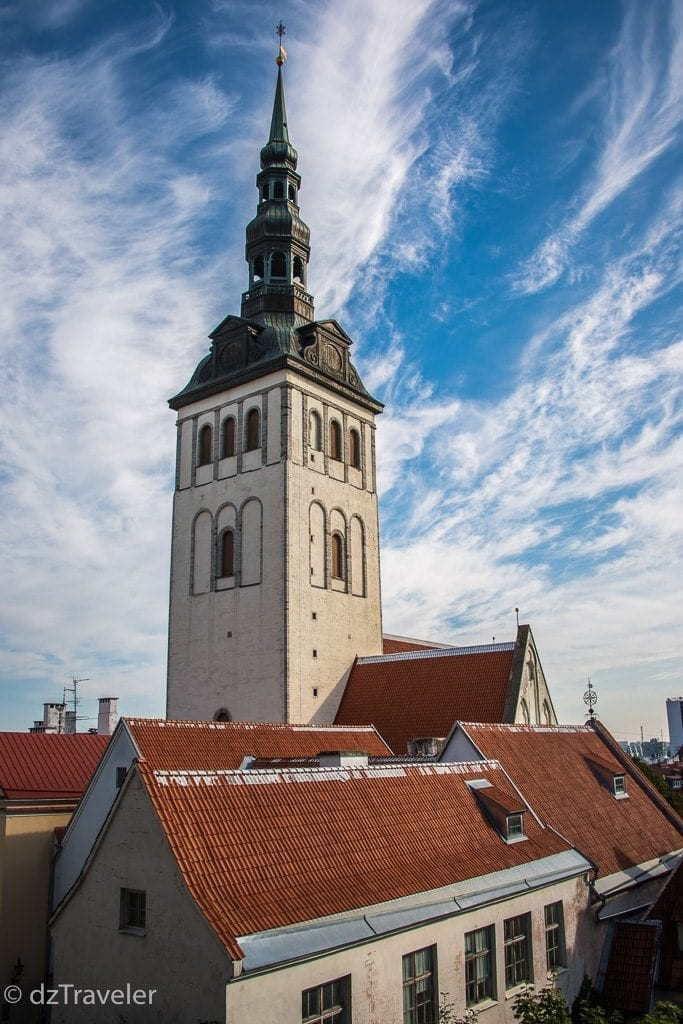 View of St Mary's Church from Toompea Hill, Tallinn