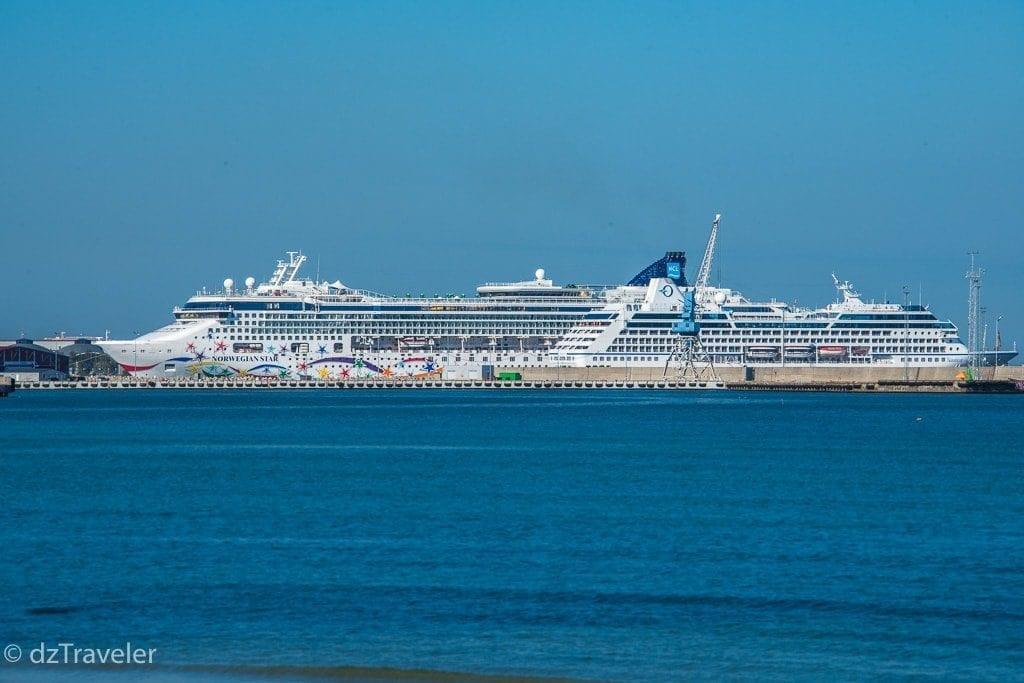 Ships in Tallinn port