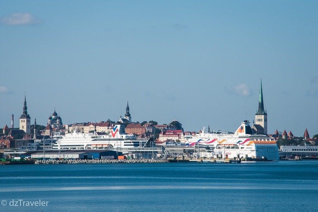 A view of beautiful Tallinn