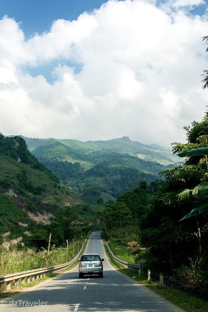 Beautiful Highway to Sapa from Hanoi, Vietnam