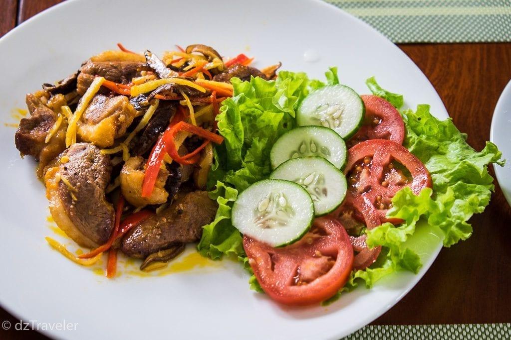 Having delicious local Food in Vietnam