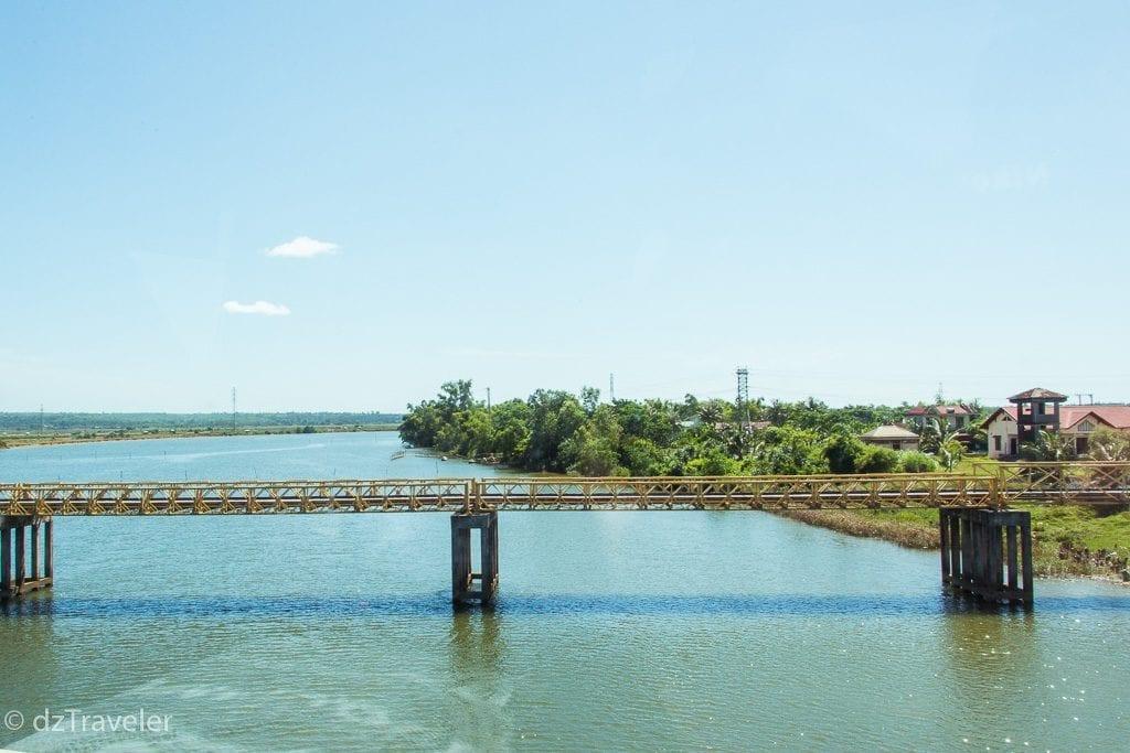 The famous Ben Hai River and Hien Luong bridge