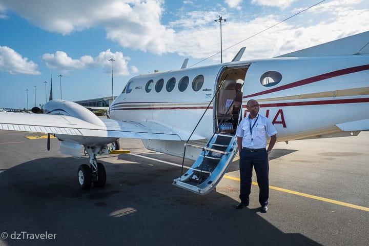 Taking Safarilink airline from Zanzibar to Nairobi, Kenya
