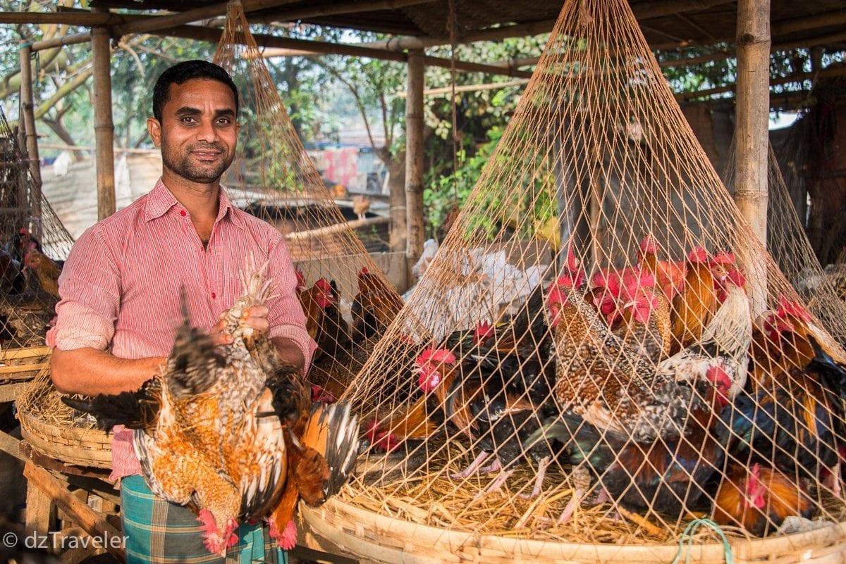 Local market in rural Bangladesh