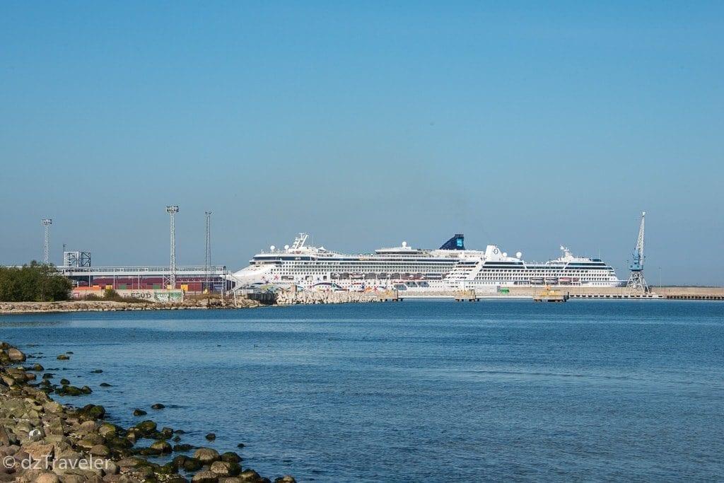Big Passenger ships at the Port