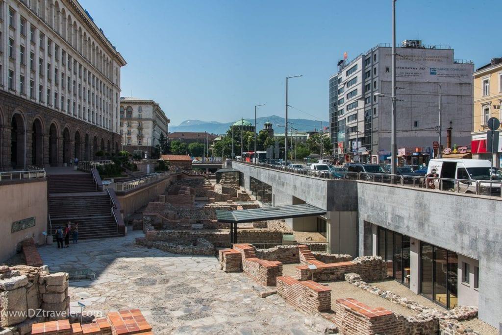The ancient Roman city Serdika