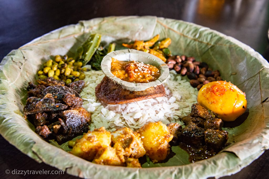 Newari food in Pokhara