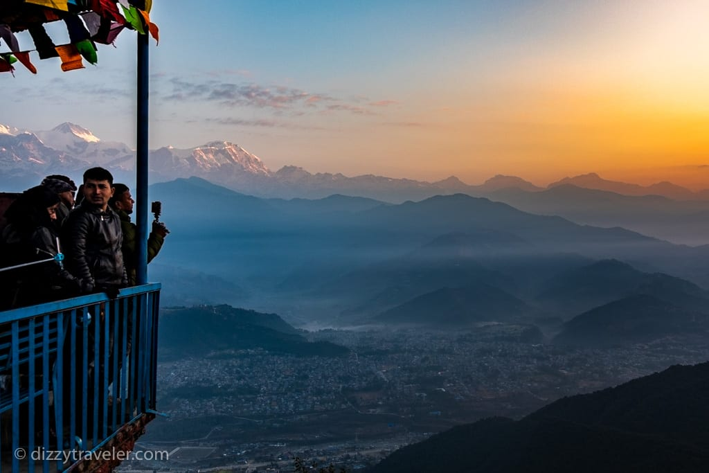 nagarkot view tower for sunrise